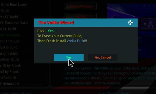 How to Install Vodka Kodi Build Blue Label with Screenshots step 18