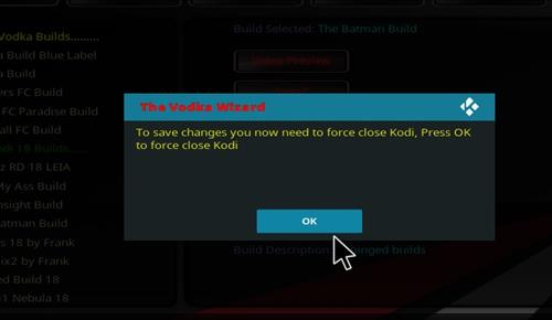 How to Install Vodka Kodi Build Blue Label with Screenshots step 20