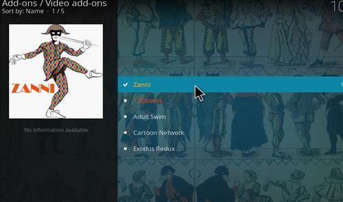 How to Install Zanni Kodi Add-on with Screenshots step 17