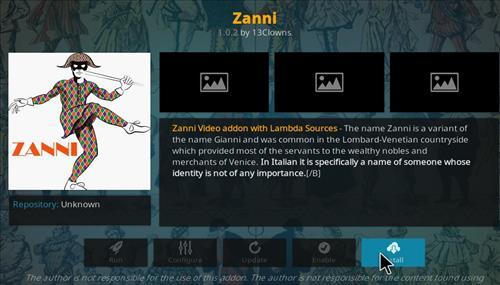How to Install Zanni Kodi Add-on with Screenshots step 18
