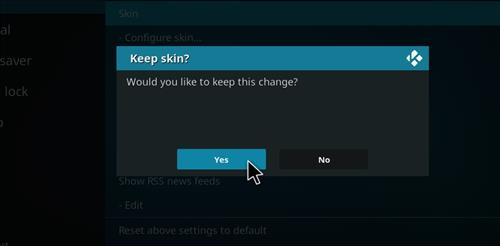 How to change the Skin back to Default Estuary breezz step 5