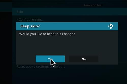 How to change the Skin back to Default Estuary cosmic evolution step 5
