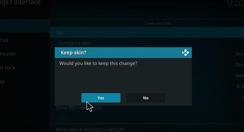 How to change the Skin back to Default Estuary insight step 5