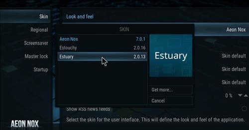 How to change the Skin back to Default Estuary maverick step 4