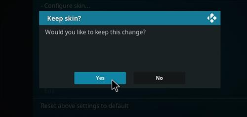 How to change the Skin back to Default Estuary maverick step 5