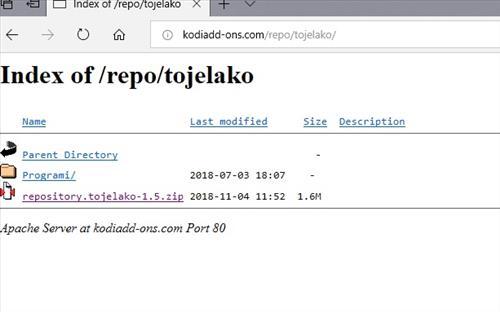 manual and download tojelako repo step 2