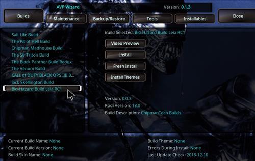 How to Install Bio-Hazard Kodi Build Leia RC2 step 23