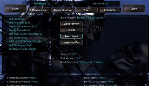 How to Install Bio-Hazard Kodi Build Leia RC2 step 24