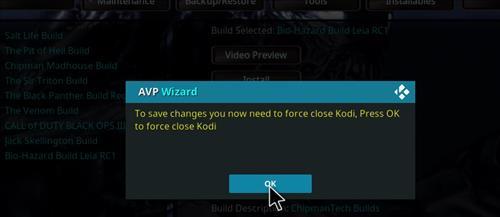 How to Install Bio-Hazard Kodi Build Leia RC2 step 27