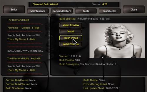 How to Install Diamond Kodi Build 18 Leia step 26