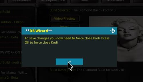 How to Install Diamond Kodi Build 18 Leia step 29
