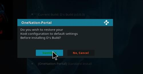 How to Install D's Kodi Build with Screenshots step 19