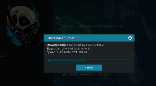 How to Install Franks 18 Kodi Build Leia step 20
