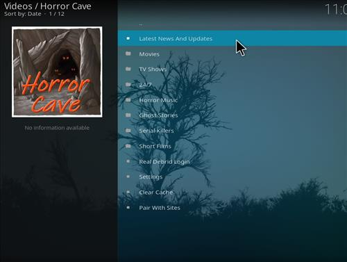 How to Install Horror Cave Kodi Add-on with Screenshots step pic 2