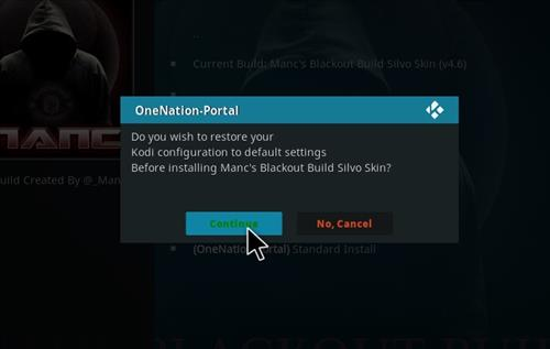 How to Install Manc's Blackout Kodi Build with Screenshots step 19
