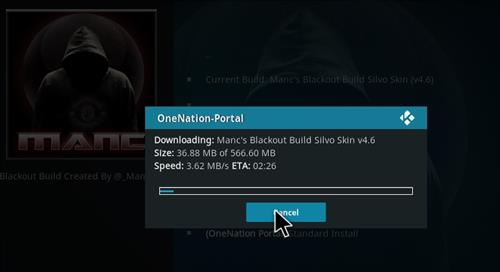 How to Install Manc's Blackout Kodi Build with Screenshots step 20
