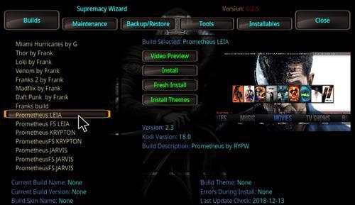 How to Install Prometheus Kodi Build 18 Leia step 23
