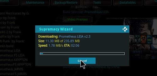 How to Install Prometheus Kodi Build 18 Leia step 26