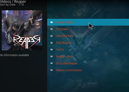How to Install Reaper Kodi Add-on with Screenshots pic 2