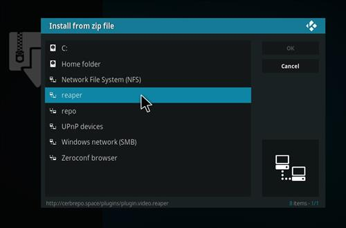 How to Install Reaper Kodi Add-on with Screenshots step 11