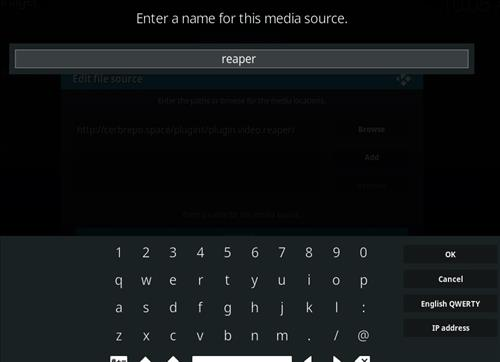 How to Install Reaper Kodi Add-on with Screenshots step 6