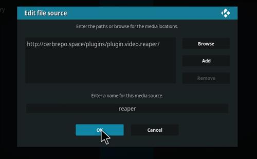 How to Install Reaper Kodi Add-on with Screenshots step 7
