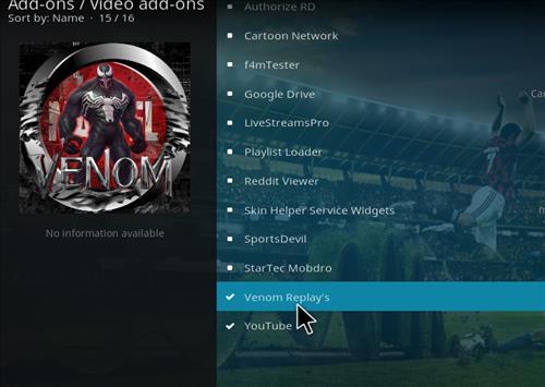 How to Install Venom Replays Kodi Add-on with Screenshots