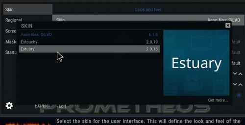 How to change the Skin back to Default Estuary prometheus step 4