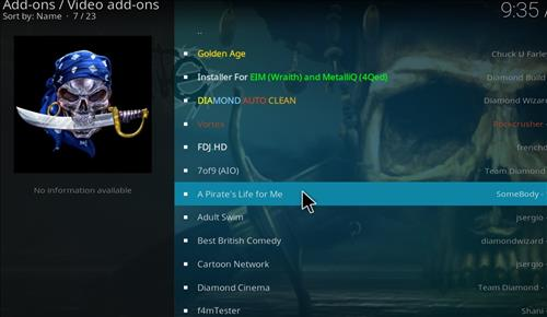 How to Install A Pirate's Life For Me Kodi Add-on with Screenshots step 18