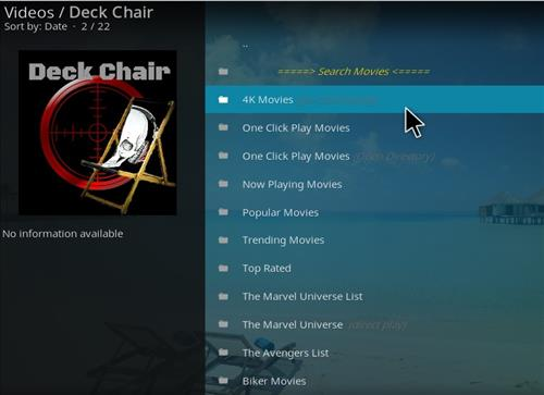 How to Install Deckchair Add-on for Kodi 18 Leia pic 2