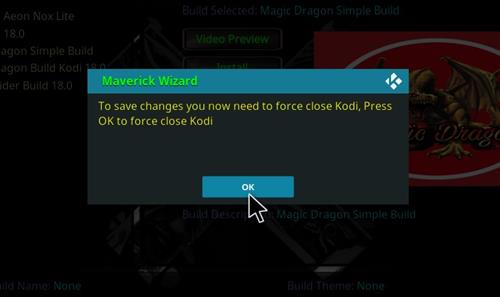 How to Install Magic Dragon Kodi 18 Leia Build step 26