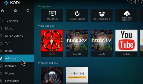 How to Install Peace Kodi Add-on with Screenshots step 8