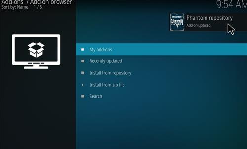 How to Install Phantom Kodi Add-on with Screenshots step 13