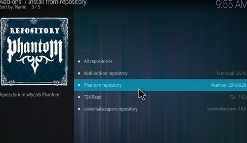 How to Install Phantom Kodi Add-on with Screenshots step 15