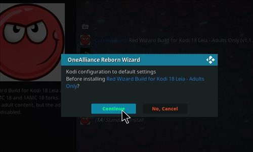 How to Install Red Wizard Kodi 18 Leia Build step 19