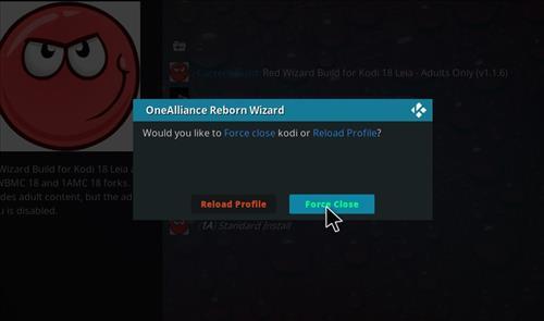 How to Install Red Wizard Kodi 18 Leia Build step 21