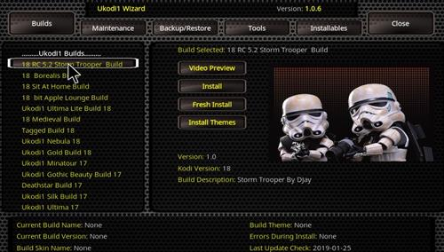 How to Install Storm Trooper Kodi 18 Build Leia step 24