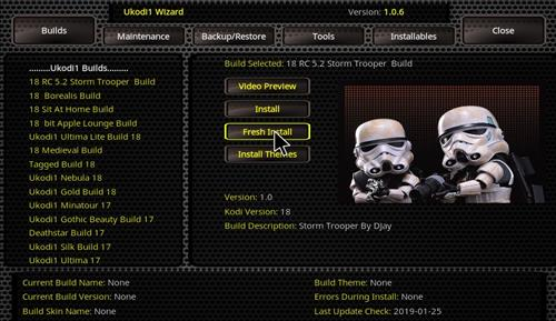 How to Install Storm Trooper Kodi 18 Build Leia step 25