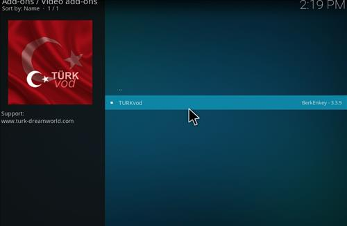 How to Install Turkvod Add-on for Kodi 18 Leia step 18