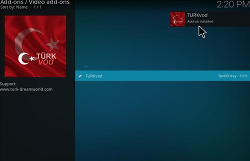 How to Install Turkvod Add-on for Kodi 18 Leia step 21