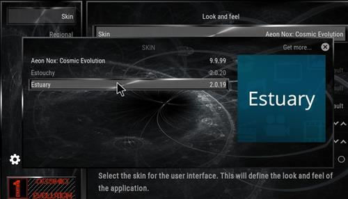 How to change the Skin back to Default Estuary cosmic evo step 4