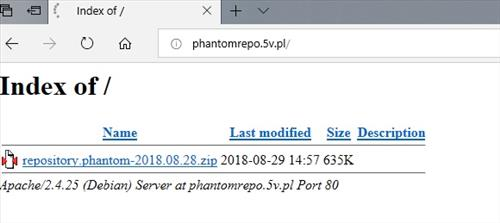 manual and download phantom repo step 1