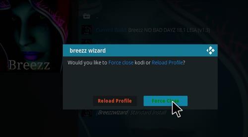 How to Install Breez No Bad Dayz Kodi 18 Leia Build step 26