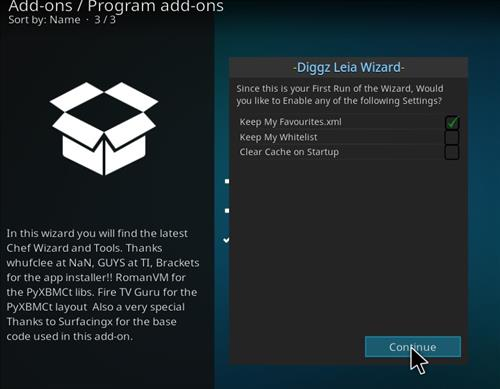 How to Install Diggz XenoX Kodi 18 Leia Build step 21