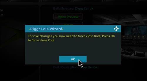 How to Install Diggz XenoX Kodi 18 Leia Build step 27