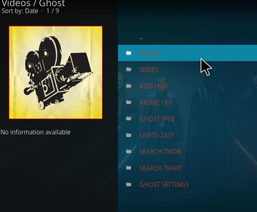 How to Install Ghost Add-on for Kodi 18 Leia pic 2