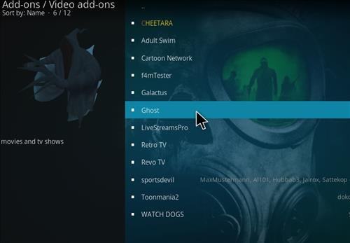 How to Install Ghost Add-on for Kodi 18 Leia step 17