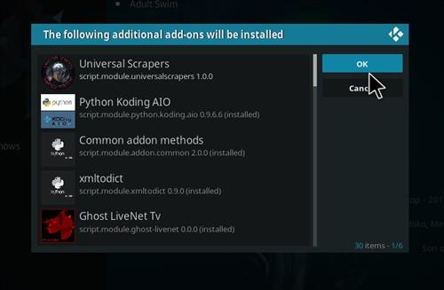 How to Install Ghost Add-on for Kodi 18 Leia step 19