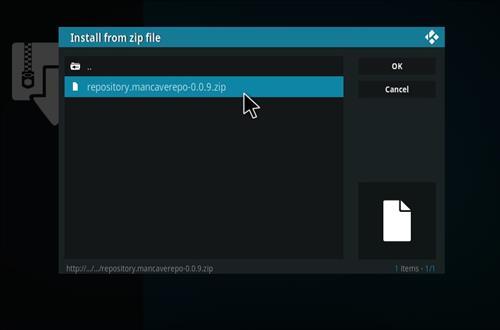 How to Install MC 1080P Kodi18 Leia Add-on step 13