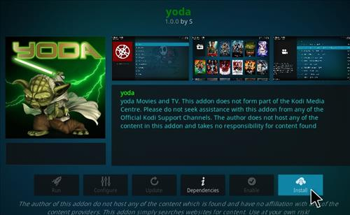 How to Install Yoda Add-on for Kodi 18 Leia step 18